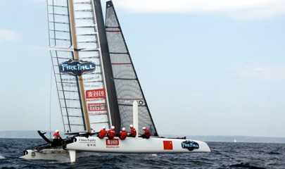 Boat of China Team - 34th America's Cup - 405 × 240px